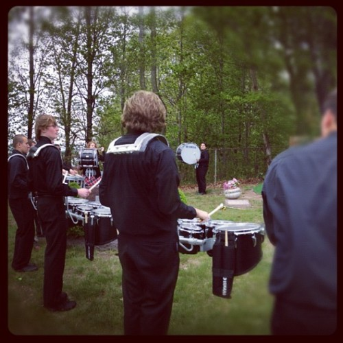Drums for Levon at the cemetery